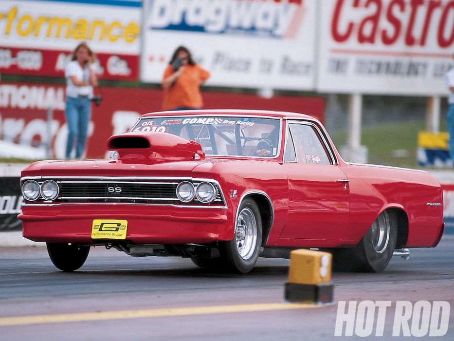 1966 Chevrolet El-Camino pickup muscle classic camino hot rod rods drag race racing wallpaper