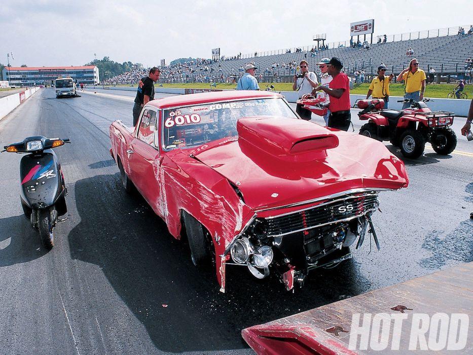 1966 Chevrolet El-Camino pickup muscle classic camino hot rod rods drag race racing wallpaper