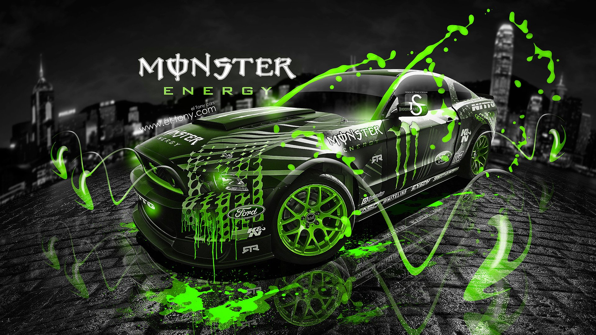Perfect Ford Mustang Rtr Monster Energy Drift Race Racing Wallpaper 1920x1080  529976 Wallpaperup .