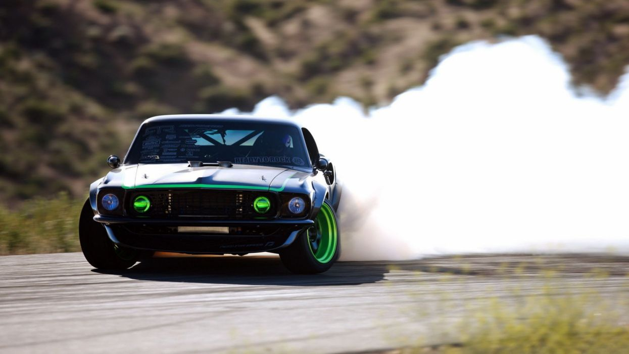 1969 ford mustang rtr x drift race racing hot rod rods muscle classic need speed