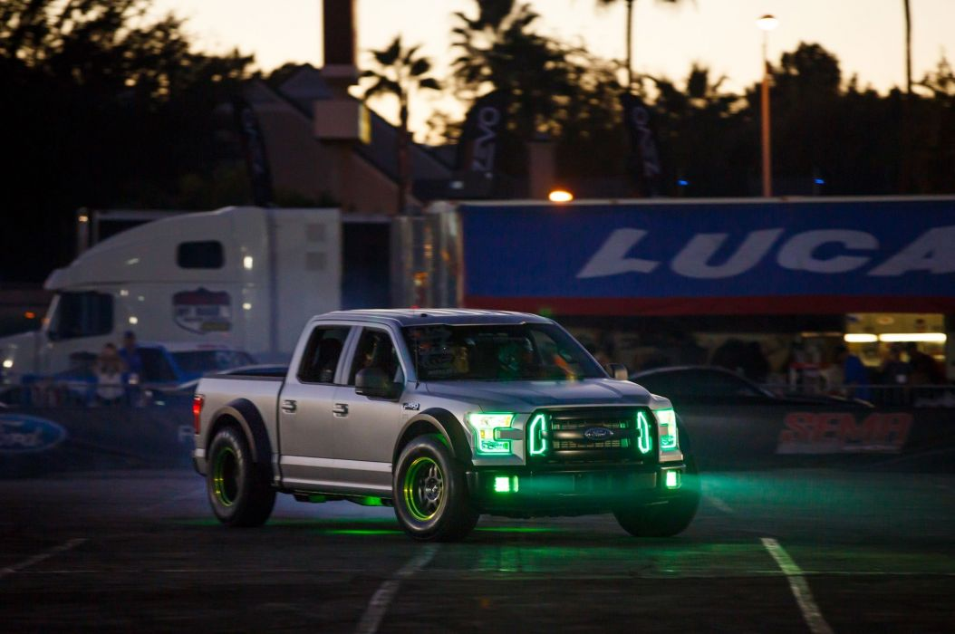 2015 Ford F-150 RTR pickup drift race racing tuning hot rod rods wallpaper