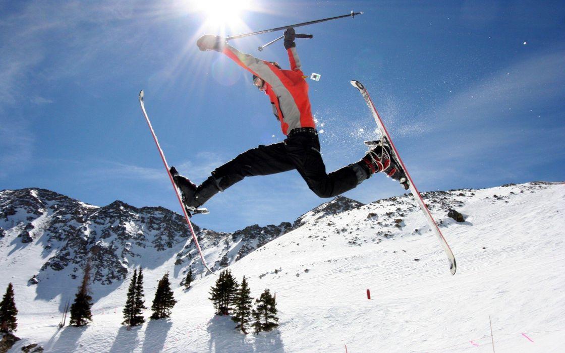 Sports - Skiing winter snow mountain wallpaper