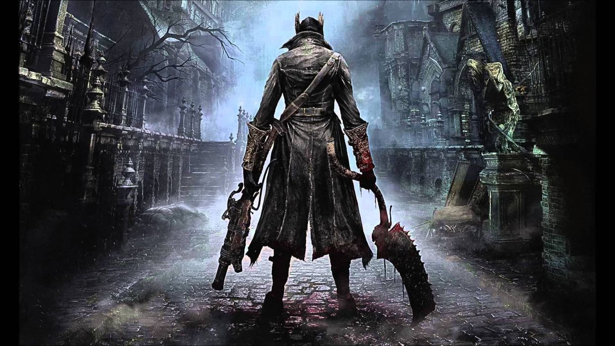 BLOODBORNE rpg action fighting gothic survival apocalyptic dark sci-fi horror fantasy wallpaper