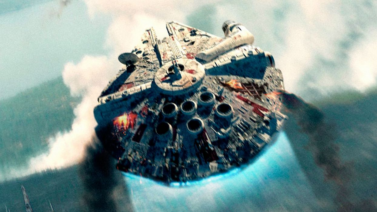 STAR WARS FORCE AWAKENS action adventure sci-fi disney spaceship wallpaper