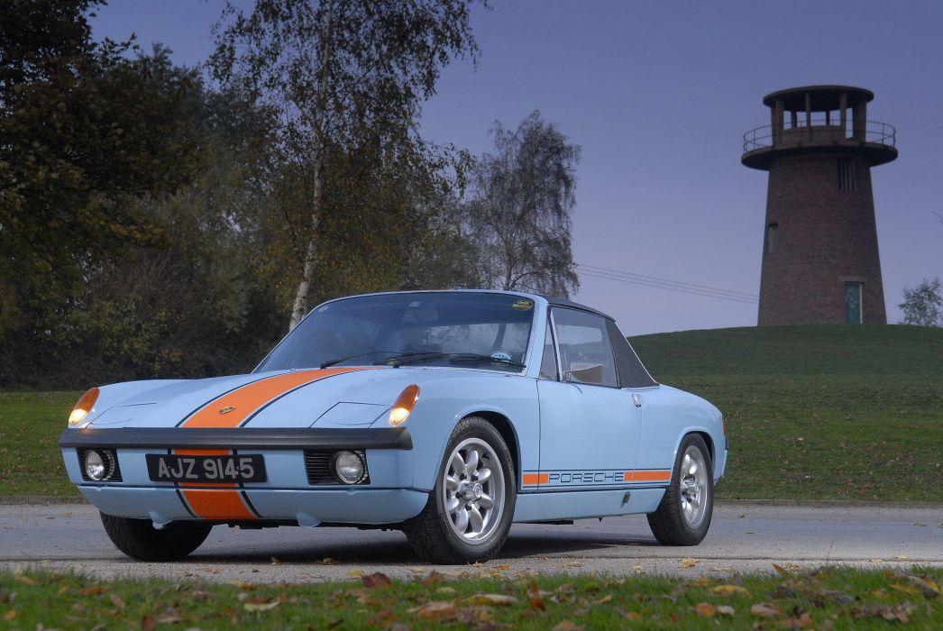 Porsche 914 916 coupe classic cars germany blue bleu wallpaper