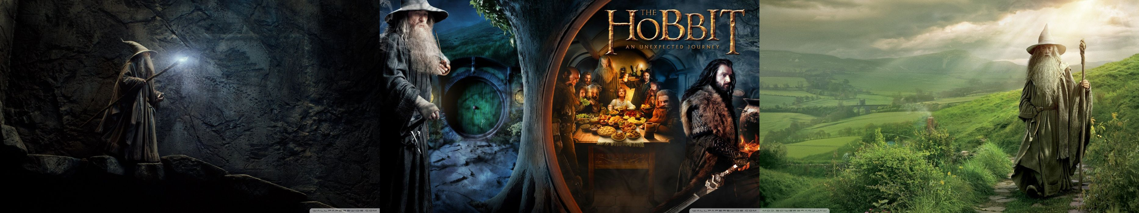 Triple Monitor Multiple Screen Multi Hobbit Lord Of The Ring