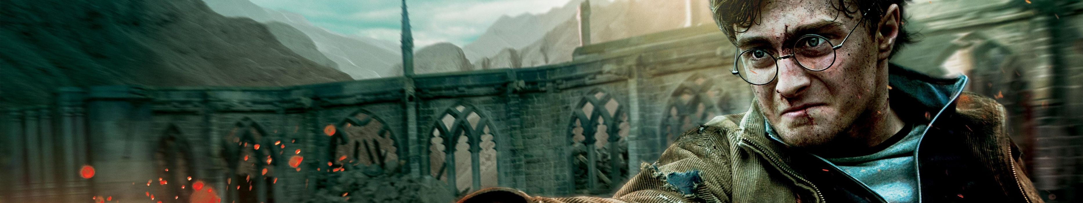 triple monitor multiple screen multi Harry Potter Daniel Radcliffe wallpaper