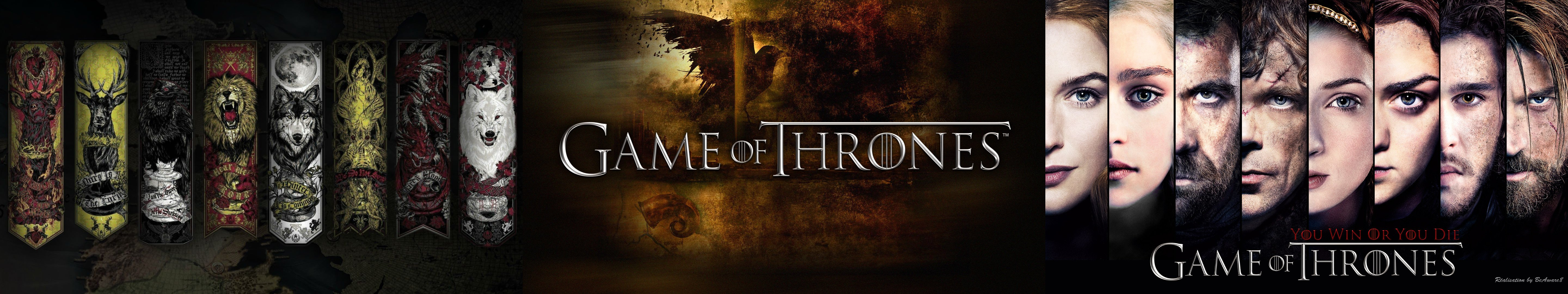 Triple Monitor Multiple Screen Multi Game Of Thrones Wallpaper