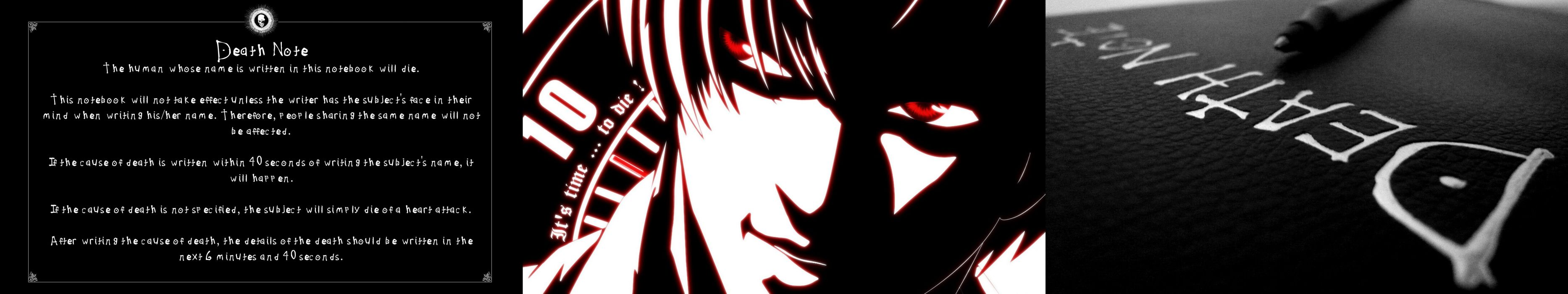 Triple Monitor Multiple Screen Multi Anime Death Note Wallpaper 5760x1080 533999 Wallpaperup