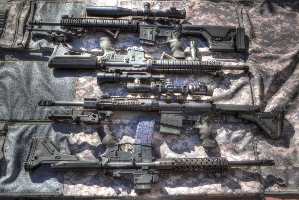 gun pistol weapon Military assault rifle sniper wallpaper