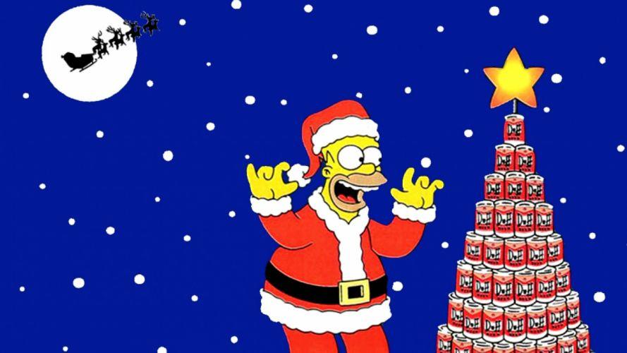 CHRISTMAS holiday simpsons wallpaper