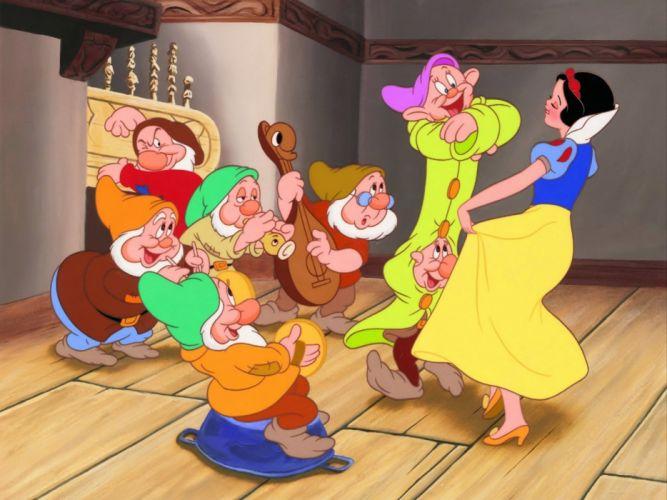 Movie Snow White And The Seven Dwarfs dance wallpaper