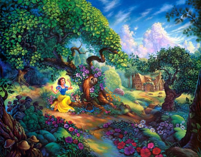 Cartoon Snow White disney wallpaper