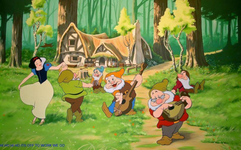 Cartoon Snow White Movie Snow White And The Seven Dwarfs wallpaper