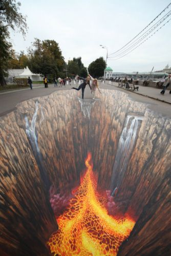 street paintings 3d people Tribute To Elements wallpaper