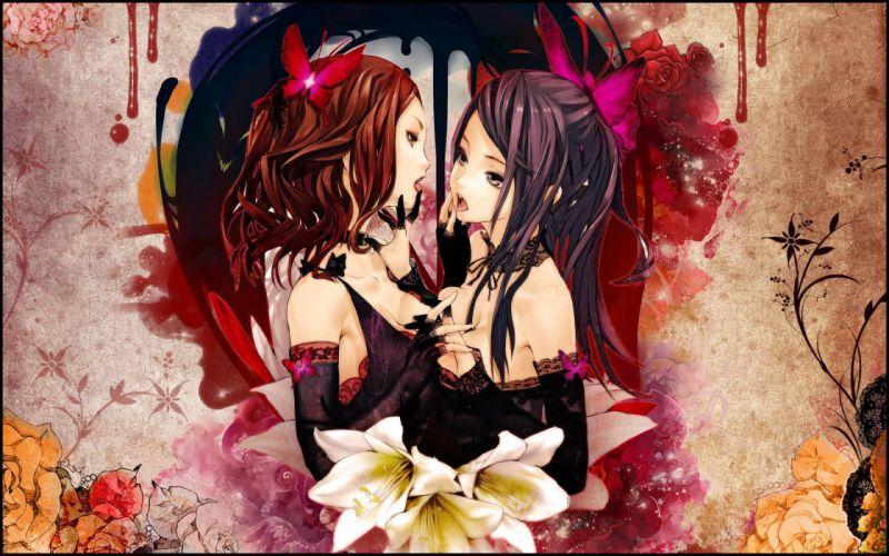 anime girl cute sweet girls wallpaper