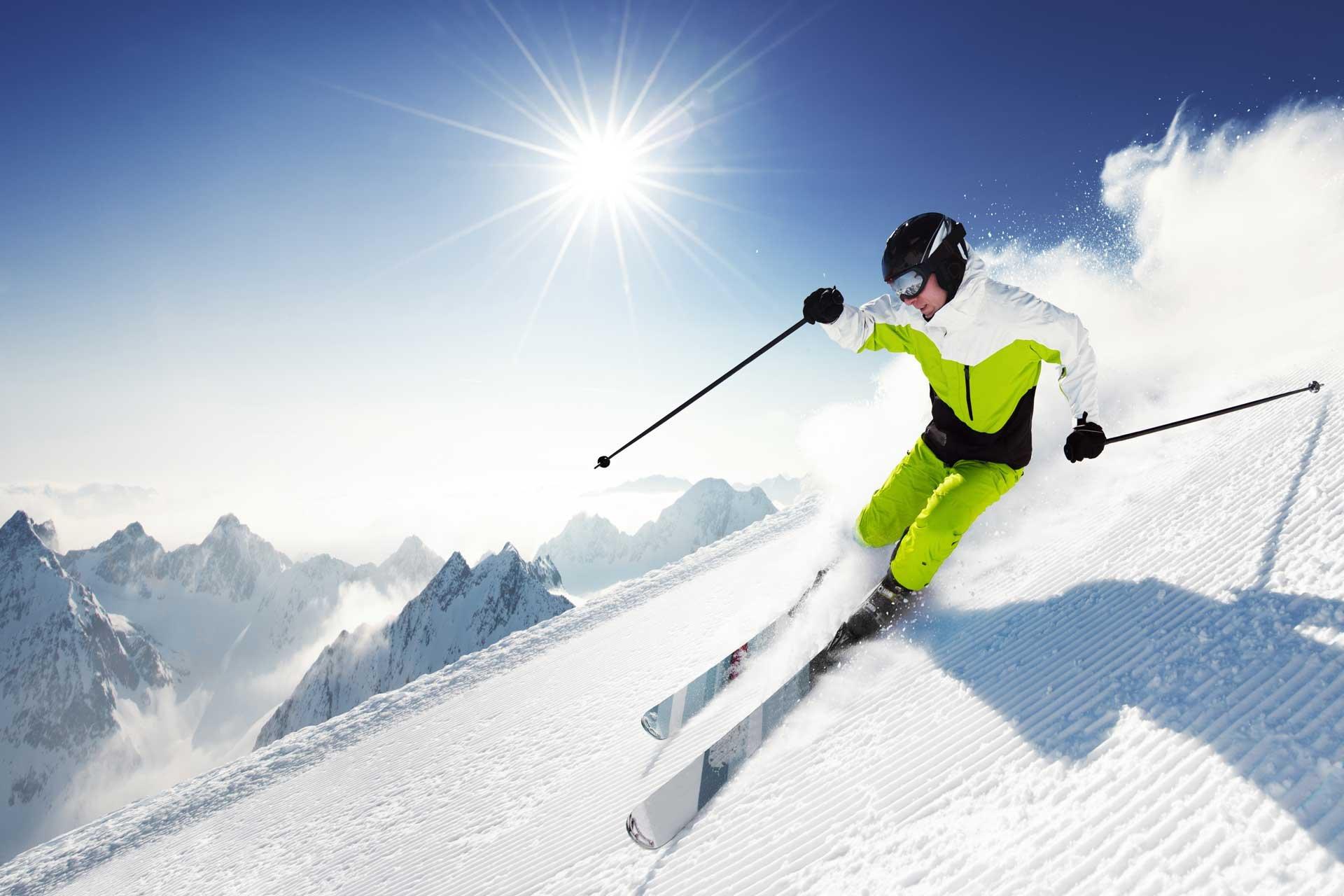 Skiing winter snow ski mountains wallpaper 1920x1280 - Ski wallpaper ...