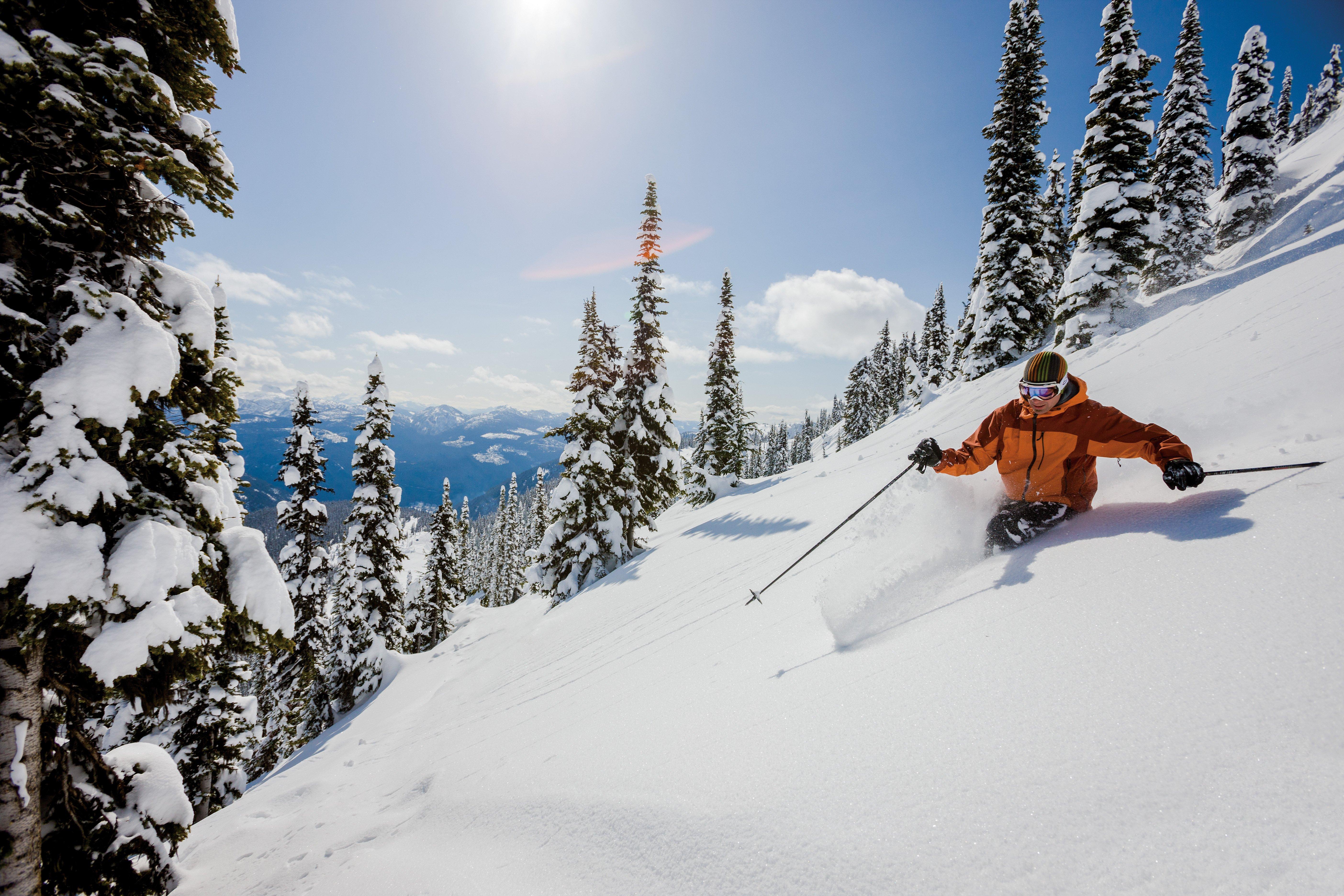 SKIING winter snow ski mountains wallpaper | 5616x3744 ...