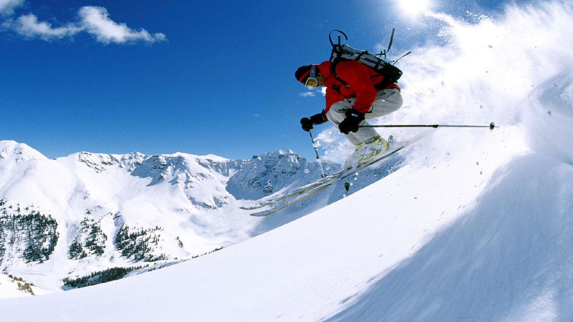 SKIING winter snow ski mountains wallpaper | 1920x1080 ...