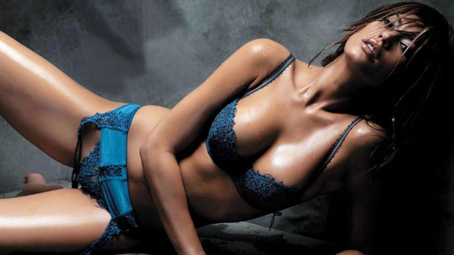 SENSUALITY - charming sweat girl brunette stockings lingerie model cinthia moura wallpaper