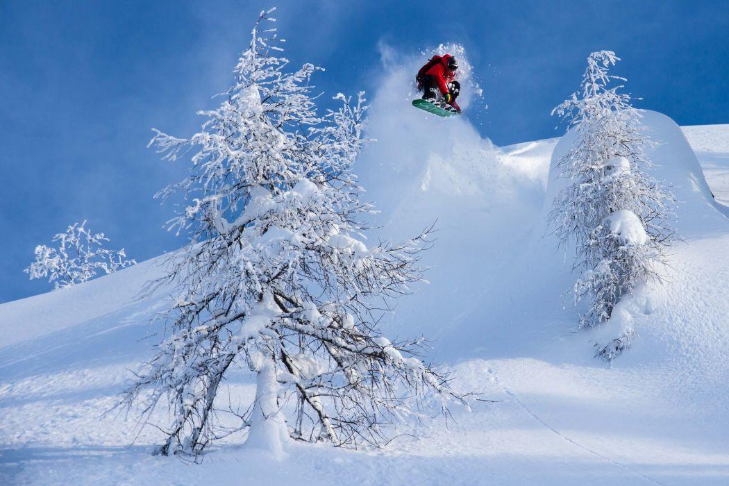 SNOWBOARDING winter snow mountains wallpaper