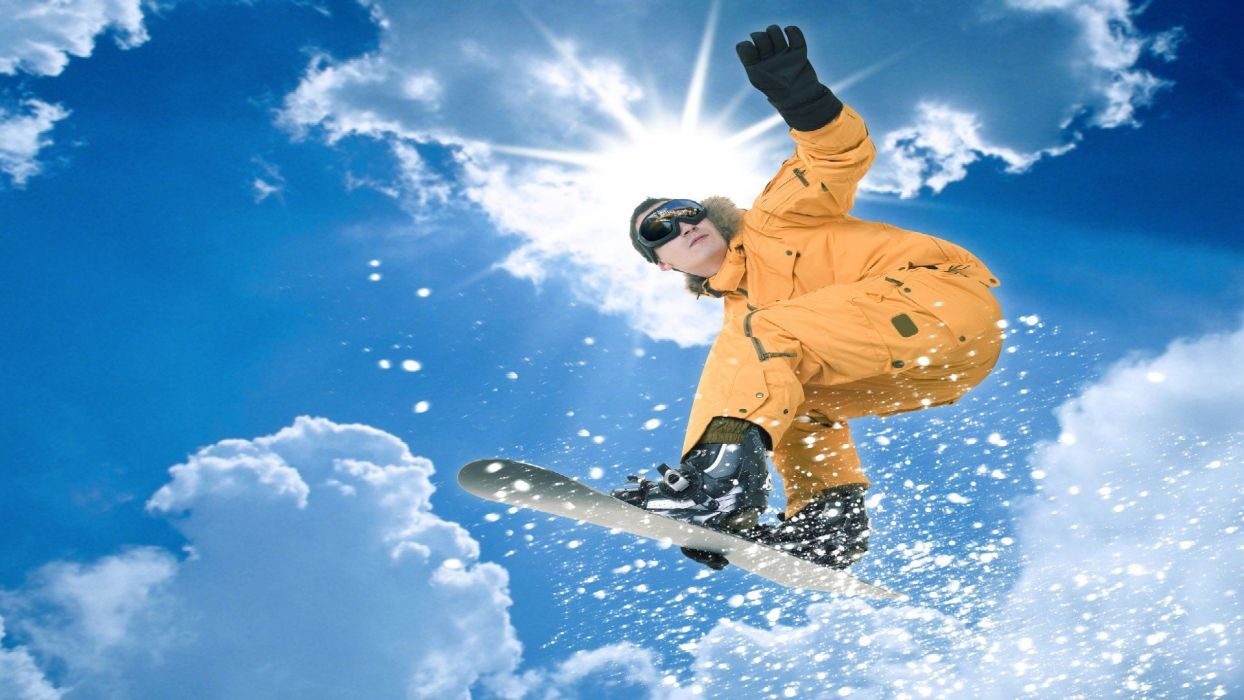SNOWBOARDING winter snow mountains wallpaper