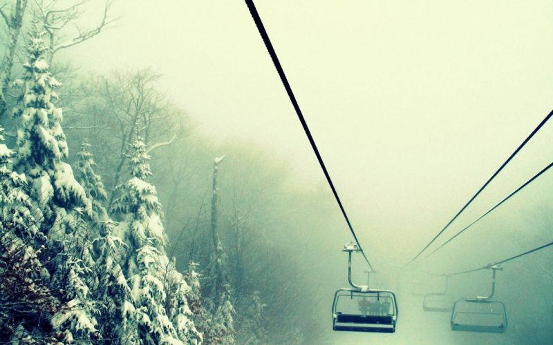 SKI LIFT skiing snowboarding winter snow mountains wallpaper