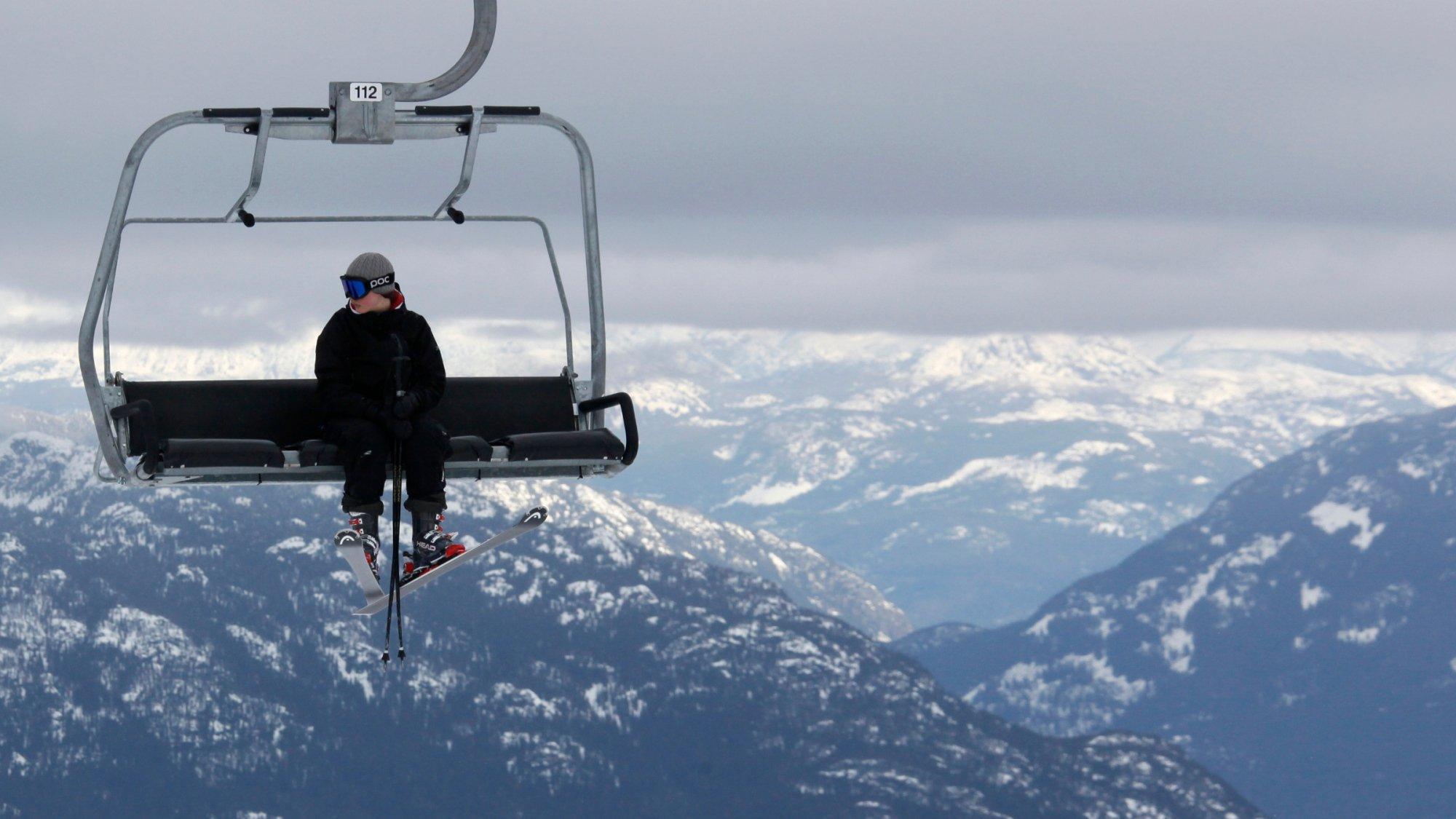ski lift skiing snowboarding - photo #1