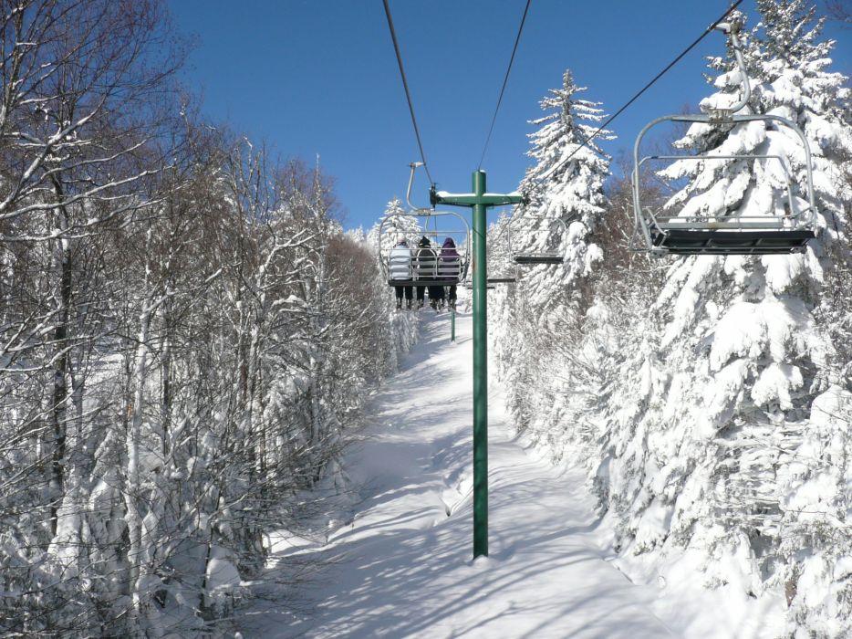 SKI LIFT skiing snowboarding winter snow mountains wallpaper