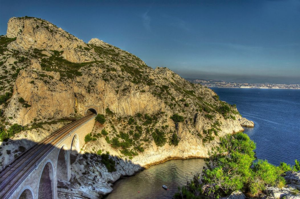 Marseille france provence 13 nature panorama panoramic sea calanques rivages wallpaper