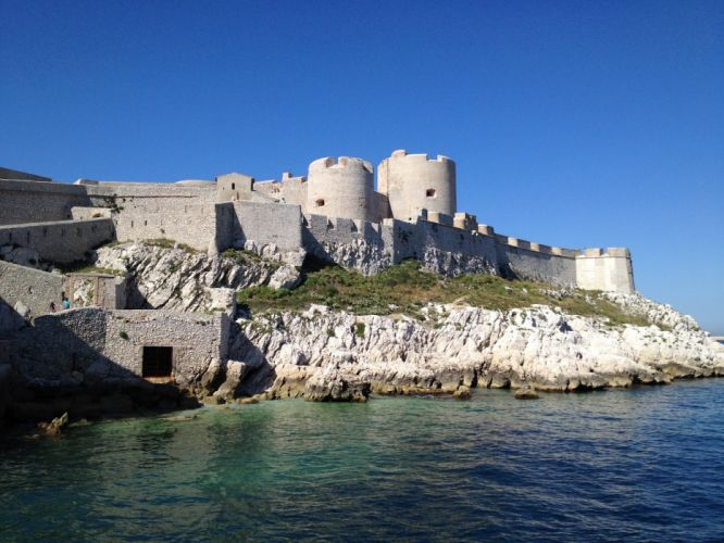 France marseille nature panorama panoramic provence 13 architecture island castel chateau d'if monte cristo prison ile wallpaper