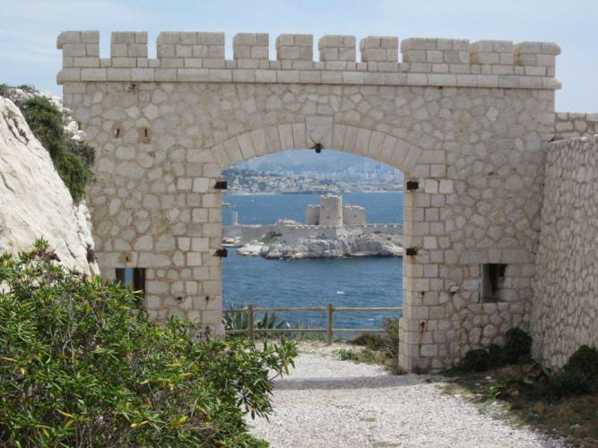 France marseille nature panorama panoramic provence 13 architecture island castel chateau d'if monte cristo prison ile wallpaper