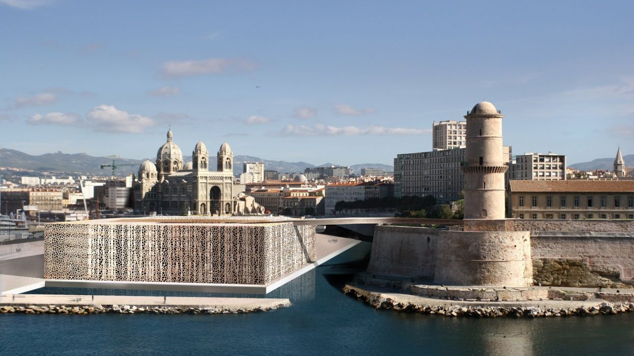 architecture cities France marseille panorama panoramic culture arts musee museum LE MUCEM wallpaper