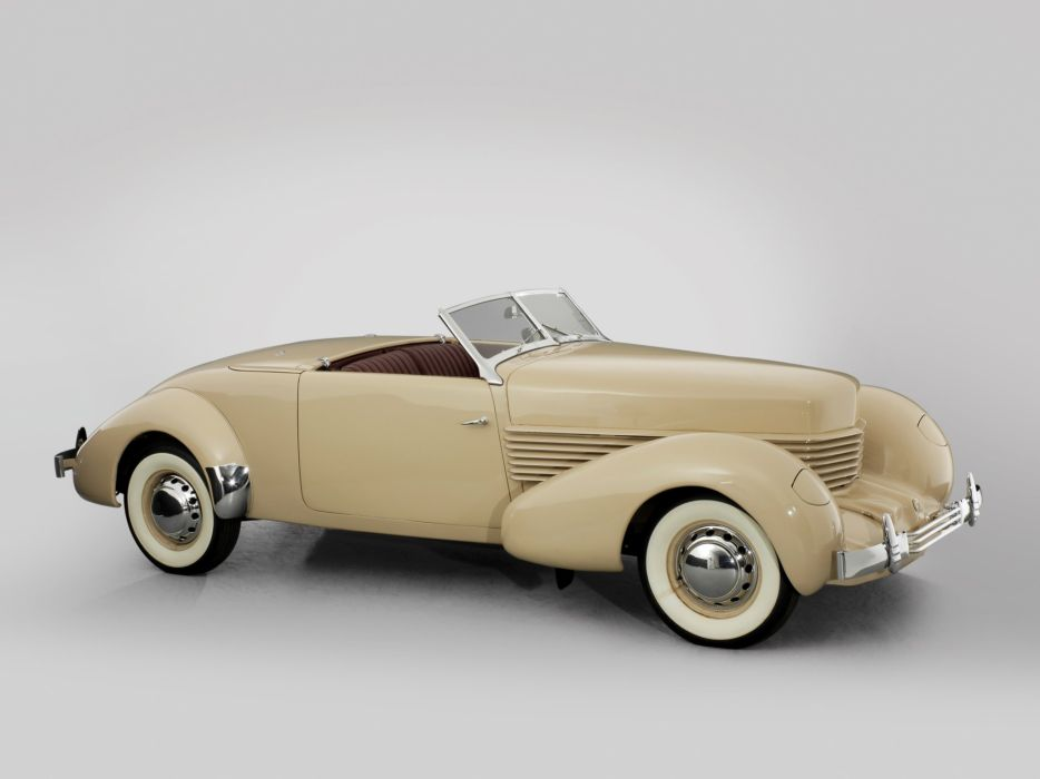 1936 Cord 810 Sportsman (C92-FB) luxury retro wallpaper