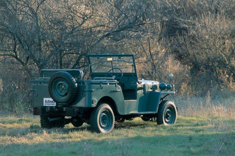 1951-54 Toyota Jeep B-J suv 4x4 military retro wallpaper