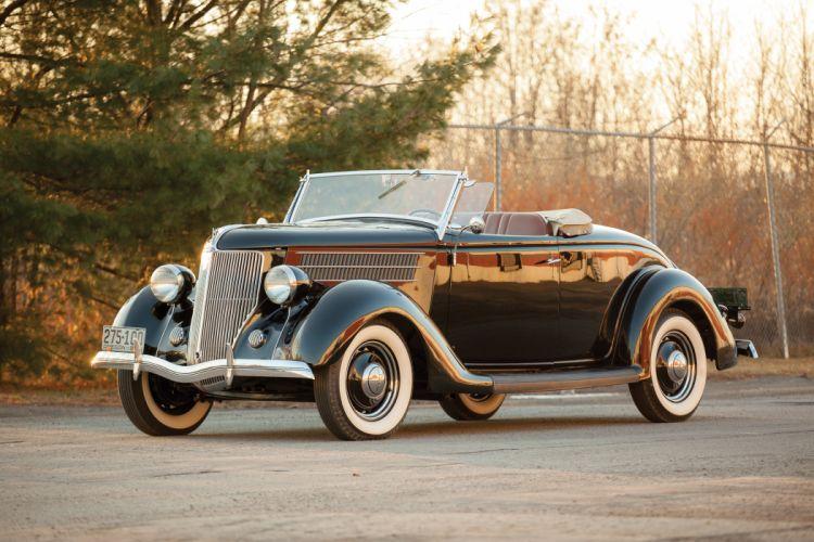 1936 Ford V-8 Deluxe Roadster (68-710) retro wallpaper