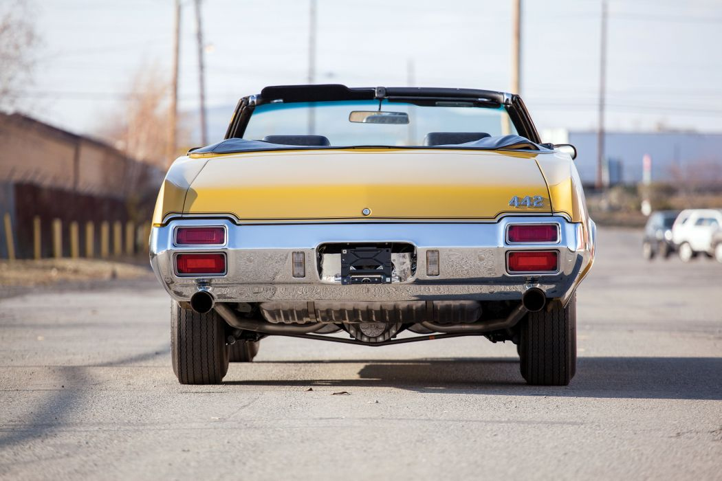 1971 Oldsmobile 442 W-30 Convertible 4467 muscle classic wallpaper