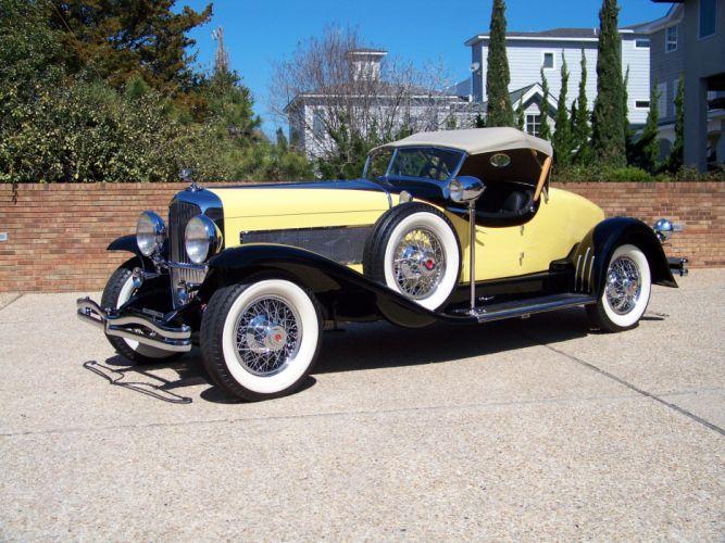 1932 Duesenberg Model-SJ 364-2379 Boattail Speedster LWB Murphy luxury retro wallpaper