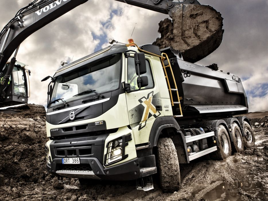 2013 Volvo FMX 8x4 Tridem Tipper semi tractor dump construction wallpaper