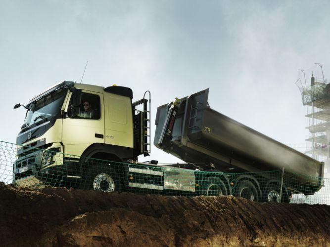 2013 Volvo FMX 8x4 Tridem Tipper semi tractor dump construction wallpaper