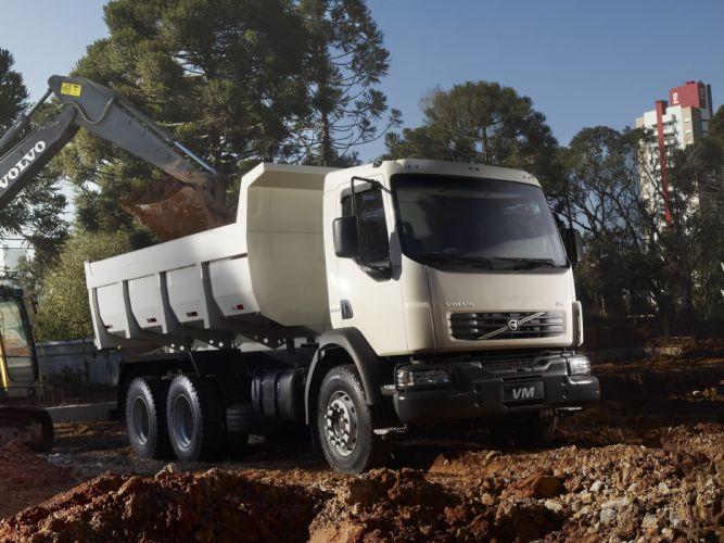 2010 Volvo VM23 6x4 Tipper dump semi tractor construction wallpaper