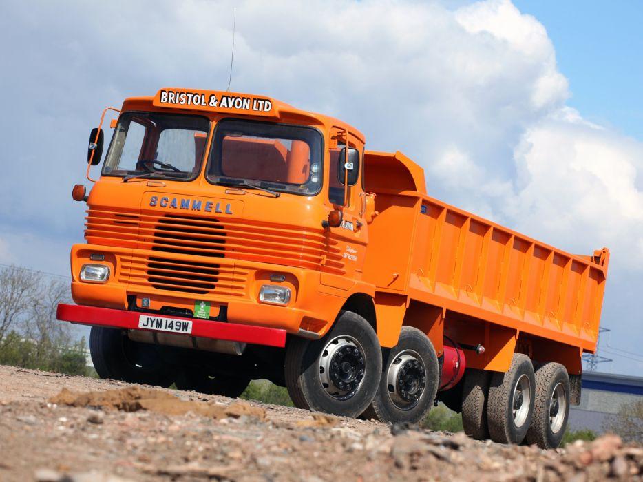 Scammell Routeman 8x8 construction classic semi tractor tipper dump wallpaper