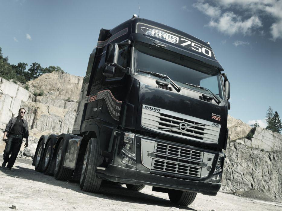 2011 Volvo FH16 750 8x4 tractor semi wallpaper