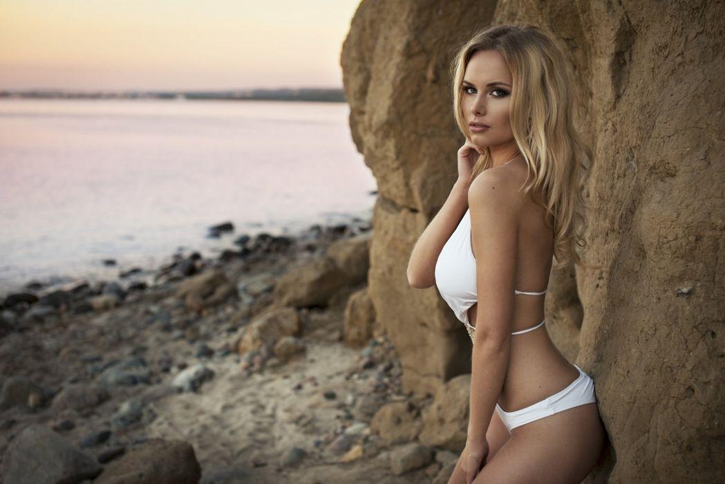 blonde people model woman wallpaper
