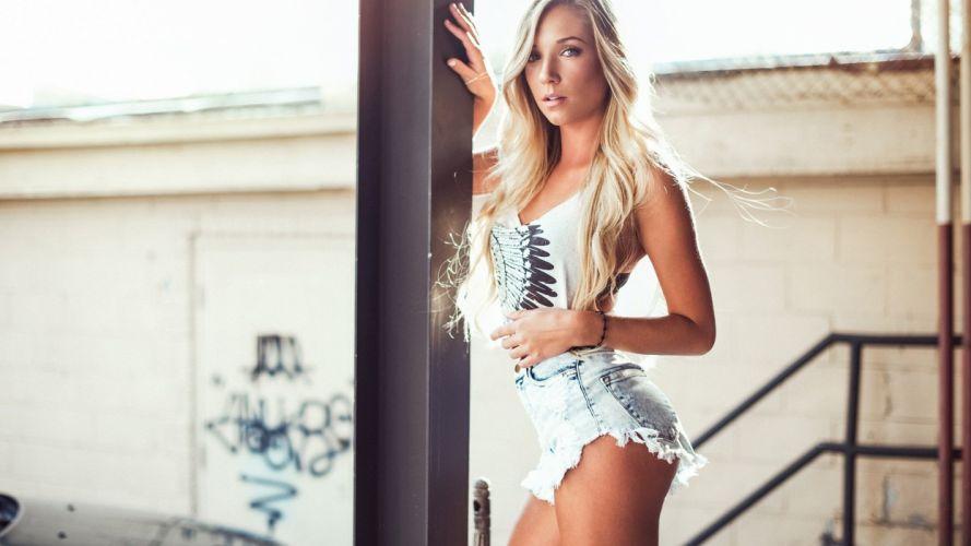 shorts blue blonde jean wallpaper
