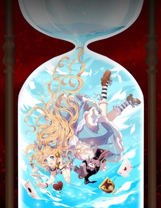 alice anime girl blonde wallpaper