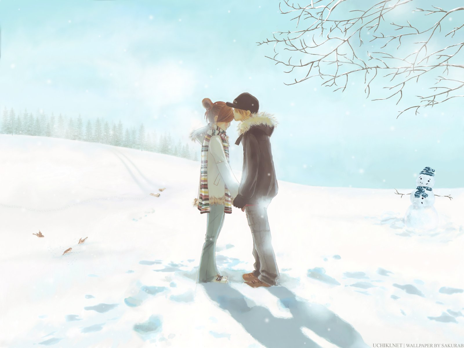 Anime Winter Scenery Wallpaper | Wallpapers | Pinterest | Scenery ...