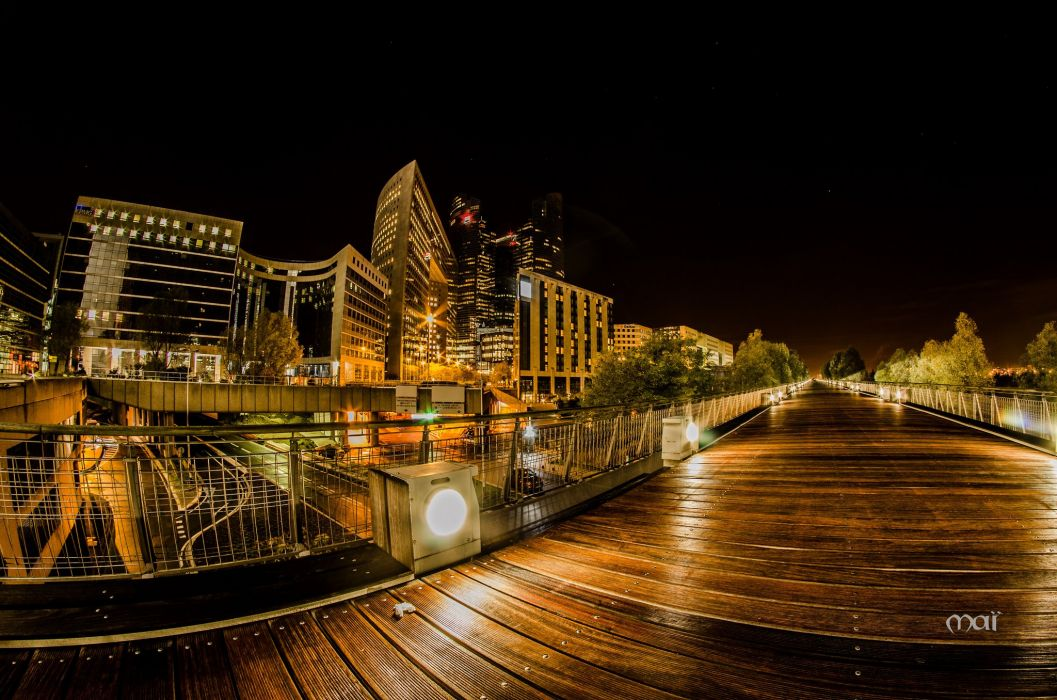 architecture cities France Light towers monuments Night panorama panoramic Paris Urban temples wallpaper