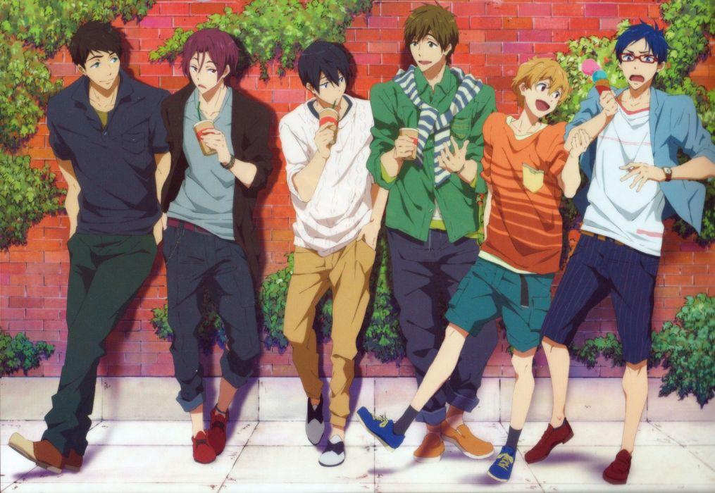 Free! Series Rei Ryuugazaki Character Nagisa Hazuki Character Makoto Tachibana Character wallpaper