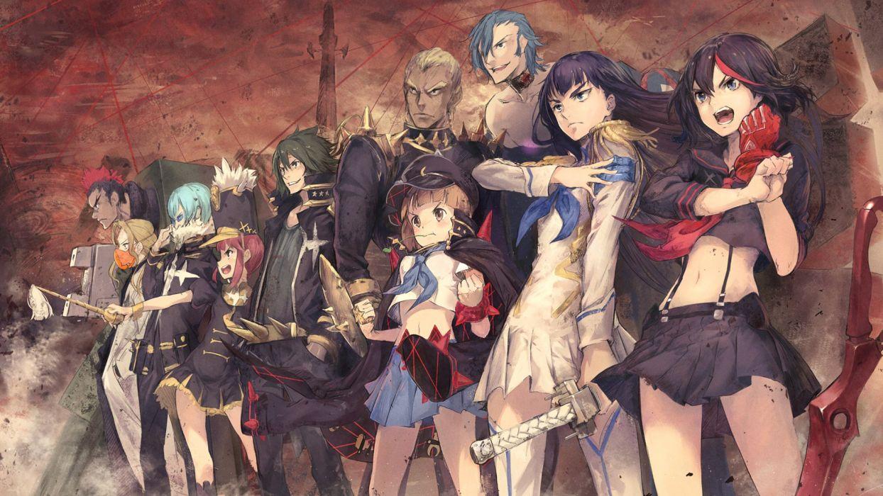Kill La Kill Megane School Uniform Sword anime group wallpaper